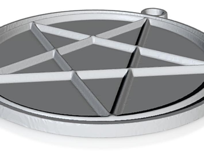 Pentacle Pendant 3d printed