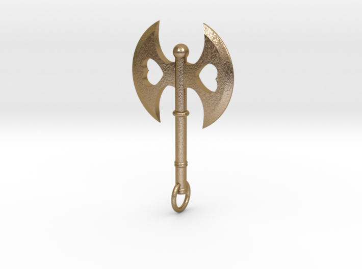 Queen of Hearts Axe Pendant 3d printed