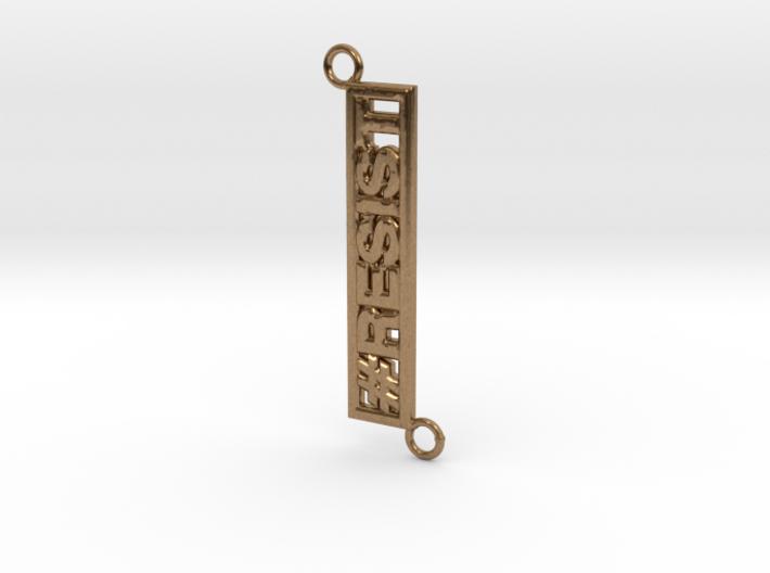 Resist Horizontal Pendant 3d printed