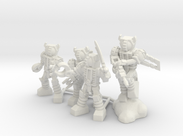 Waruder Kuwagatrer Squad, set of 4 35mm Minis 3d printed