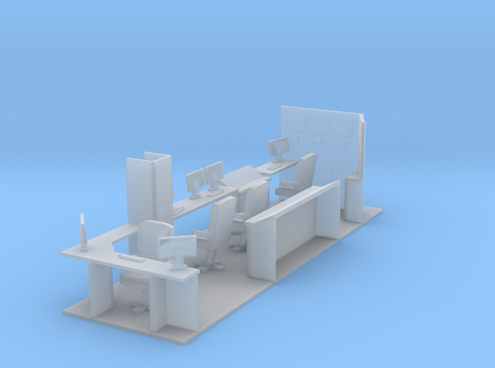 1/64th Interior for Hydraulic Fracturing Data Van  3d printed