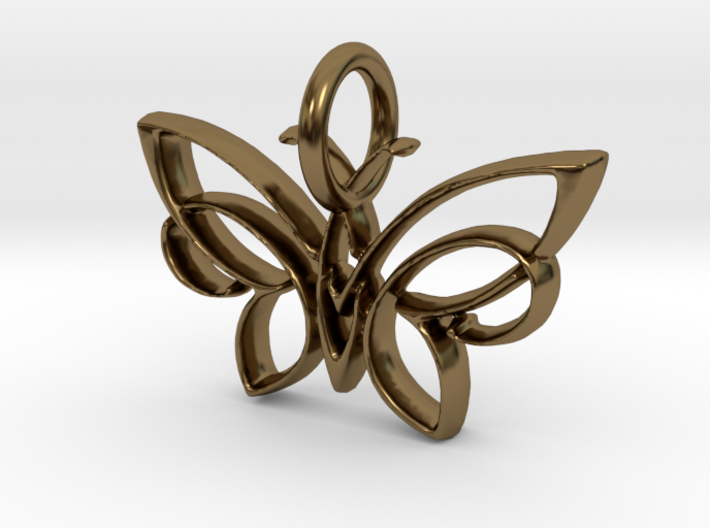 Celtic Butterfly Keychain. 3d printed
