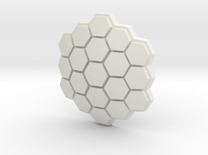 Hexagonal Energy Shield, 5mm grip 3d printed