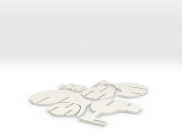 3D Jigsaw Kiwi Bird 3d printed