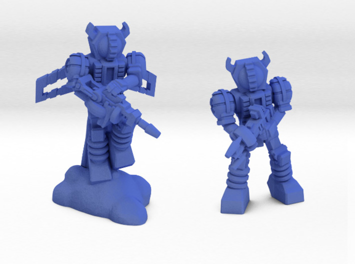 Waruder Kuwagatrer Squad, set of 4 35mm Minis 3d printed Jetpack Trooper and Patrolling Trooperr renders.