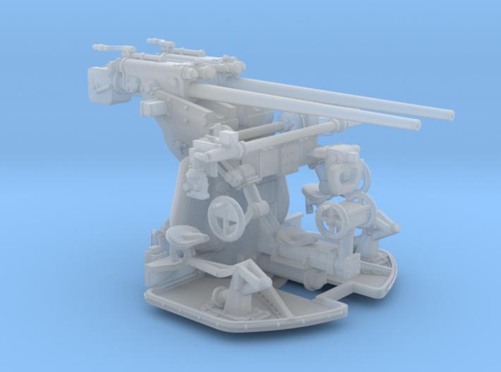 1/72 DKM 3.7 cm SK C/30 Twin Gun Mounting 3d printed
