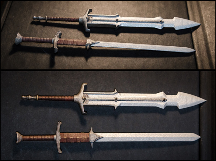 ACC-02-GreatSwords  6-7inch v2.2 3d printed Painted with Acrylics.