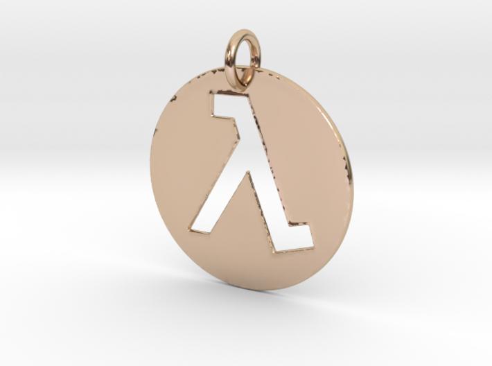 Half Life Pendant/Keychain 3d printed