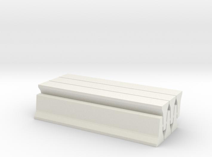 6 Jersey Barriers, Standard (32 inch x 15 feet) 3d printed