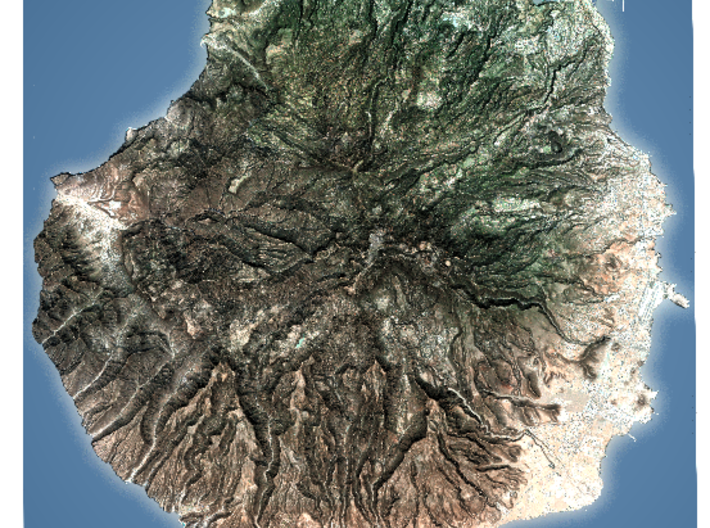 Gran Canaria Map, Canary Islands - Large 3d printed