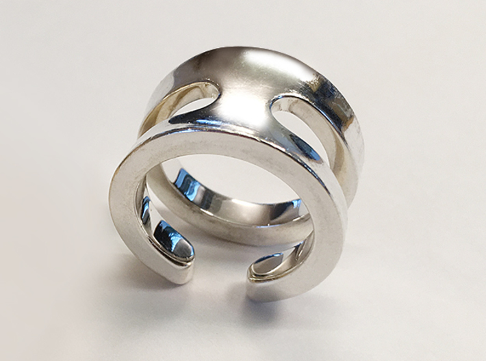SIMBIOSI US 5.75 (EU 50.87) 3d printed Polished Silver