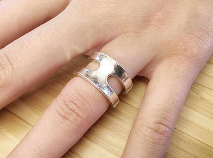 SIMBIOSI US 5.75 (EU 50.87) 3d printed The ring can also be worn as sigle item