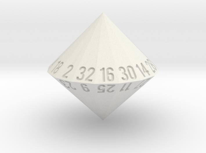 d32 (32-sided die) 3d printed