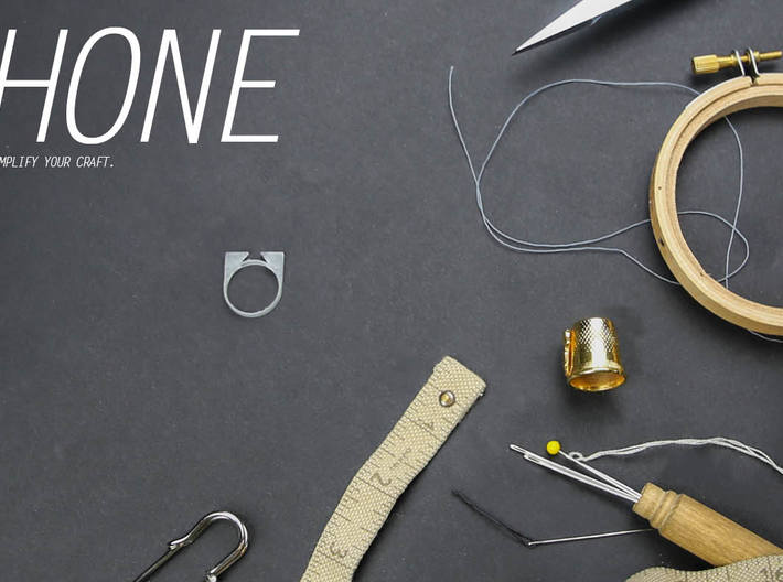 HONE - a ring for cutting thread 3d printed