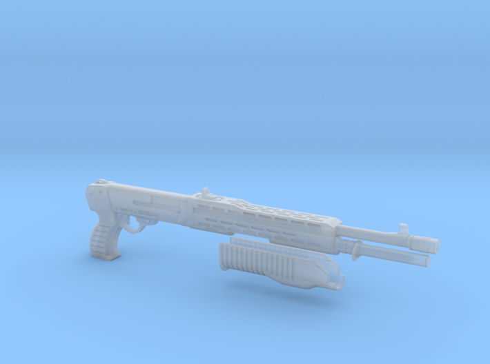 SPAS 12 1:4 scale shotgun with moveable pump 3d printed
