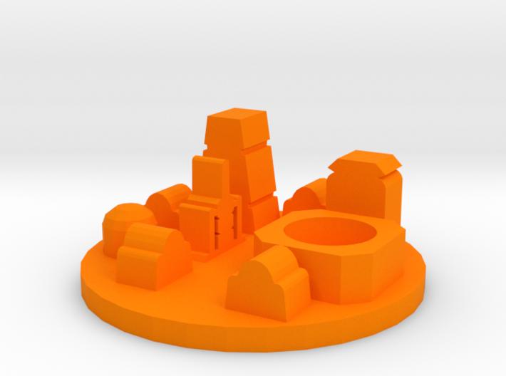 Game Piece, Desert Spaceport 3d printed