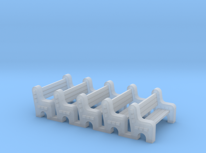 Street Bench - Qty (5) N 160:1 Scale 3d printed