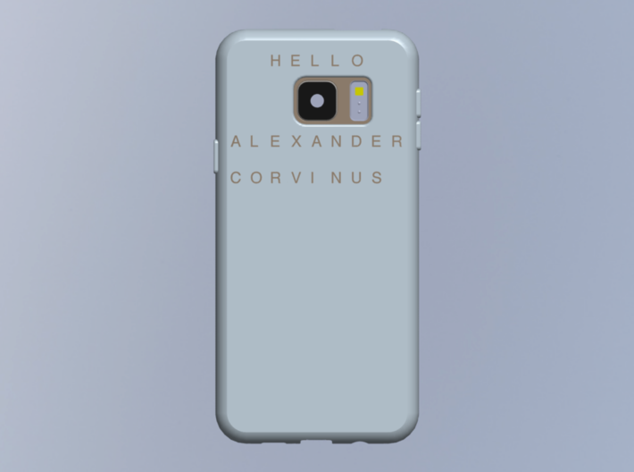 """Letters for """"Nominal case for smartphone"""" 3d printed"""