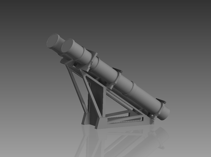 Harpoon missile launcher 2 pod 1/96 3d printed