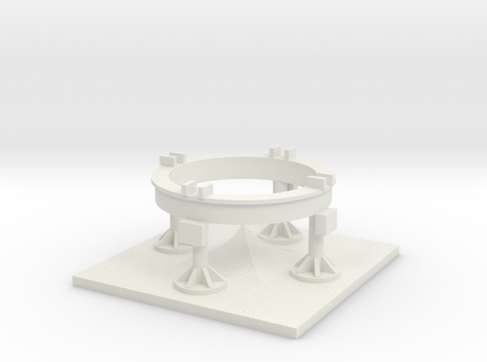 1/17.5 Scale Redstone/Jupiter C Launch Pad 3d printed