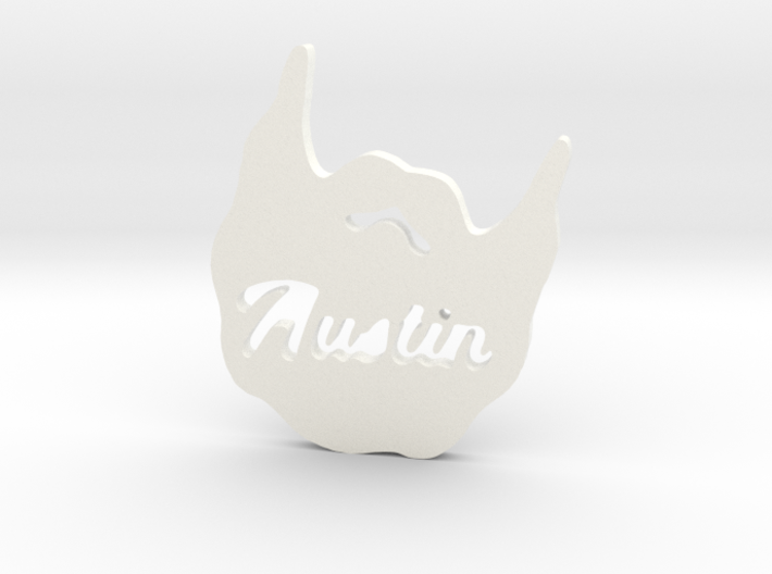 Austin Beard Pendent 3d printed