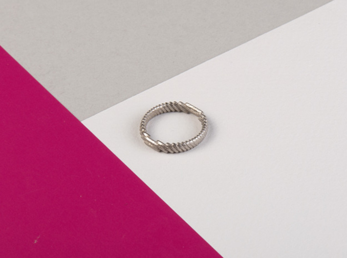 archetype - wedding ring 3d printed pictured material: polished nickel steel