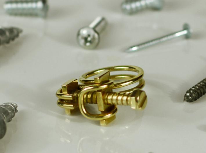 Hose Clamp Ring 3d printed