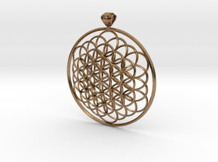Flower Of Life Pendant 6cm Fancy Loopet 3d printed