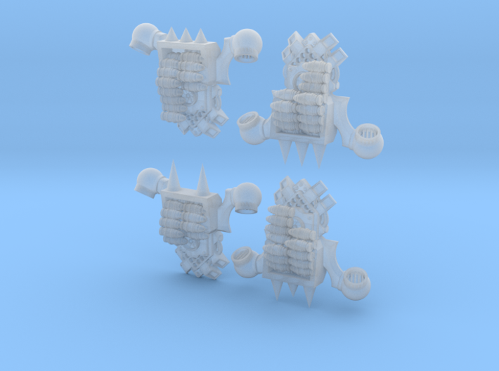 4x Chaos Cannon Ammo Backpacks 3d printed
