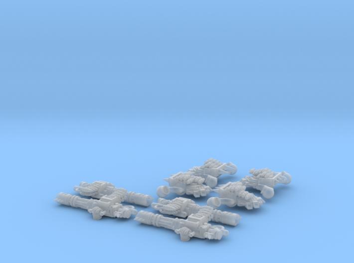 4x-RipCannon-wPacks 3d printed