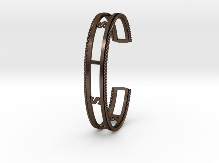 RESIST Cuff (Large) in Steel and Nylon 3d printed