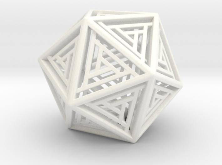Icosahedron Lattice 3d printed