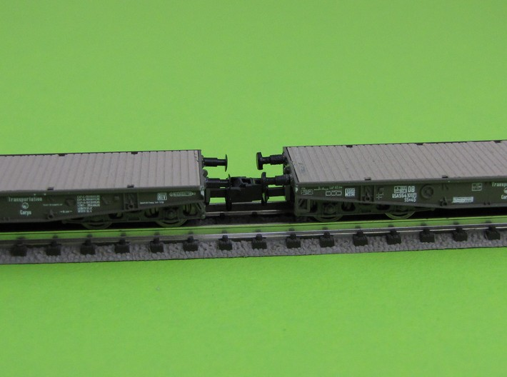 1:160 n scale buffer ROCO Flatbed Ssy 3d printed