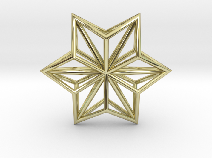 Origami STAR Structure, pendant 3d printed