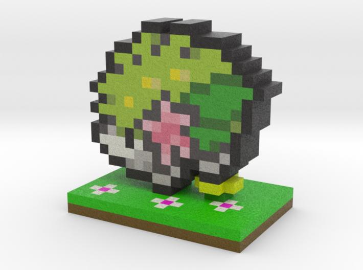 Pokemon Shaymin Pixel Art 3d printed