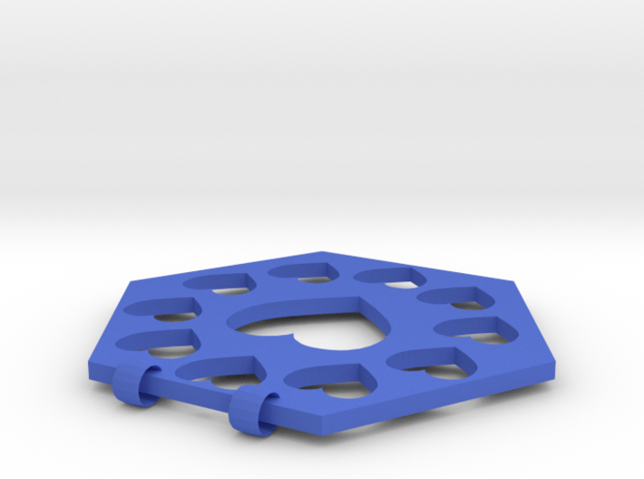Hex Haert Necklace Charm 3d printed