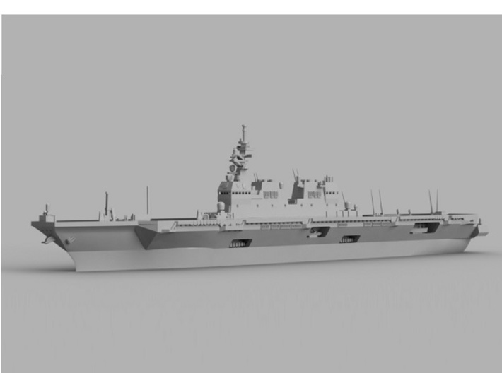 1/1800 JS Hyūga-class helicopter destroyer 3d printed Computer software render