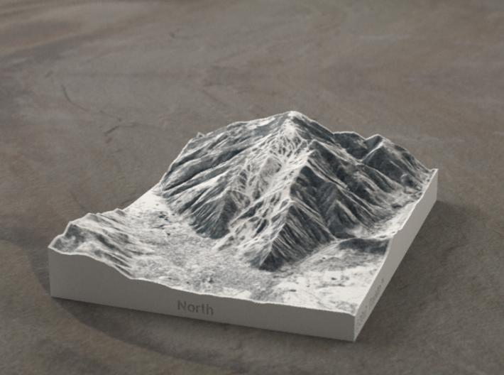 Aspen in Winter, Colorado, USA, 1:50000 3d printed