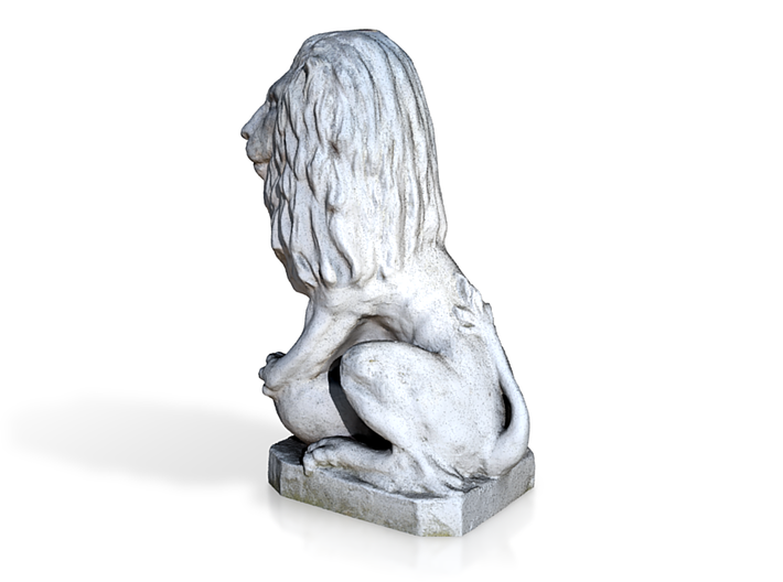 Medici Stone Lion 3d printed Back View