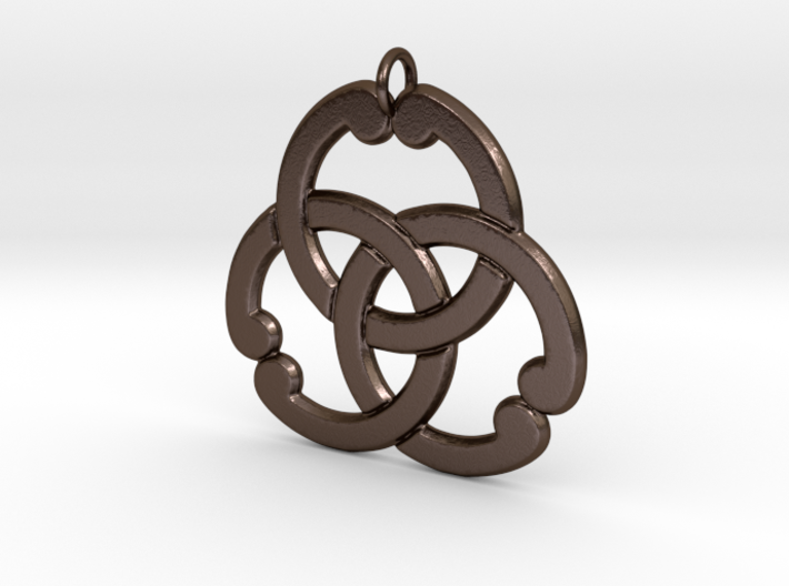 Matsuya: 3Interlocked Rings Pendant 3d printed