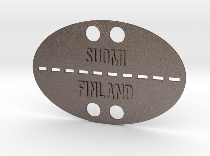 Talvisota Tunnuslevy Teräs. Suomi Finland 3d printed