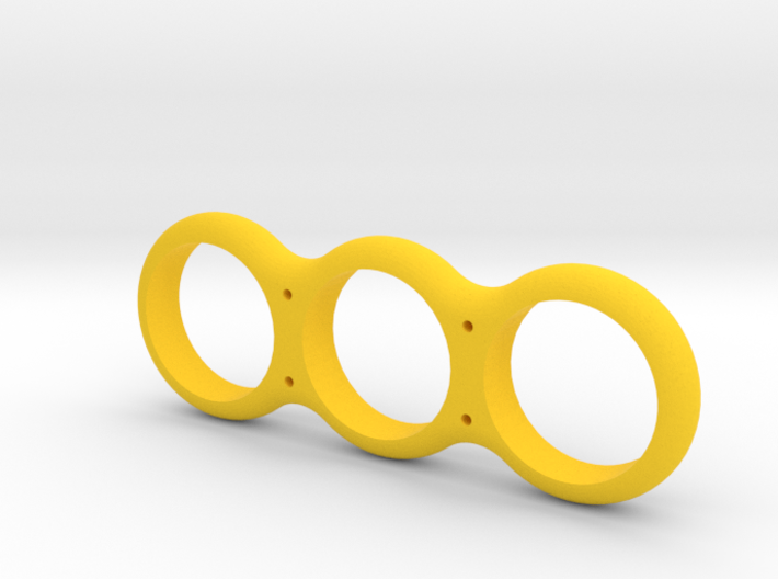 Simple Fidget Spinner w/ holes 3d printed