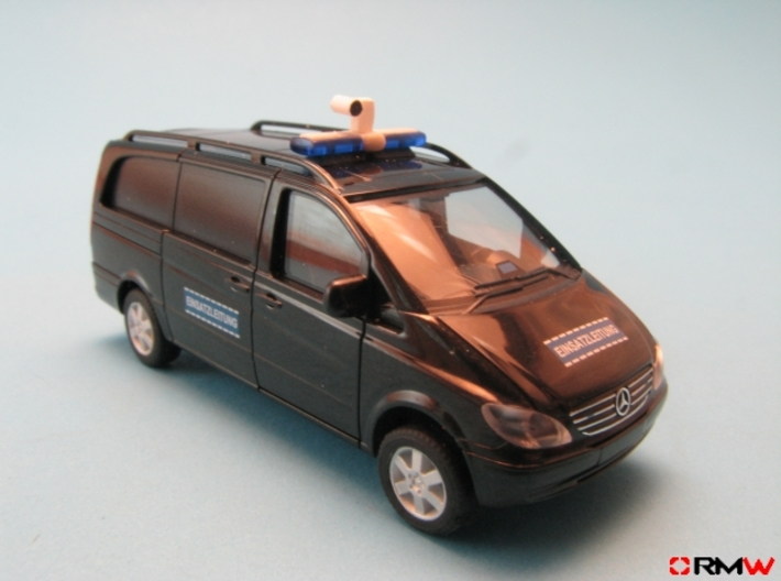HO/1:87 Iview Camera Dome kit 3d printed Painted & installed (van not included)