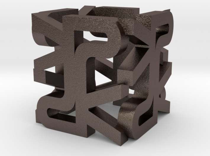 """The Parallelkeller pendant """"The PK Cube"""" 3d printed"""