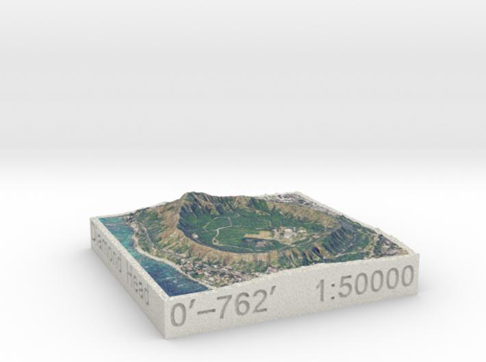 Diamond Head, Hawai'i, USA, 1:50000 3d printed
