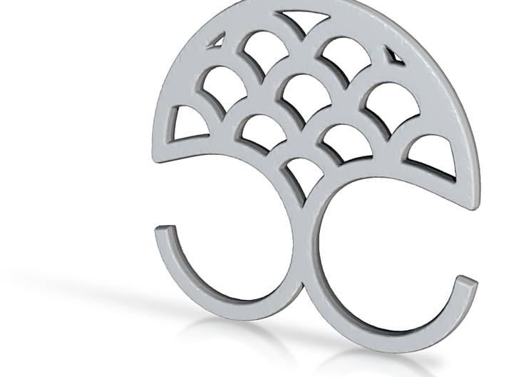 Mermaid double ring 3d printed