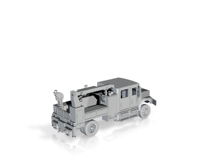 4 Door Signal Truck Maintenance Body 1-87 HO Scale 3d printed