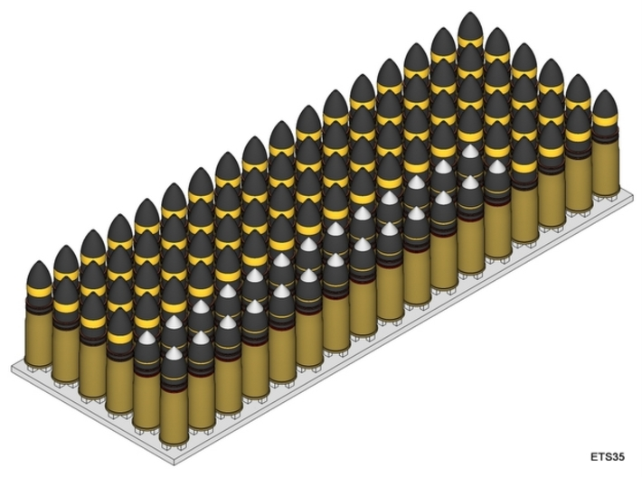 ETS35D03 - 102x 37 mm SA18 Rounds [1/35] 3d printed