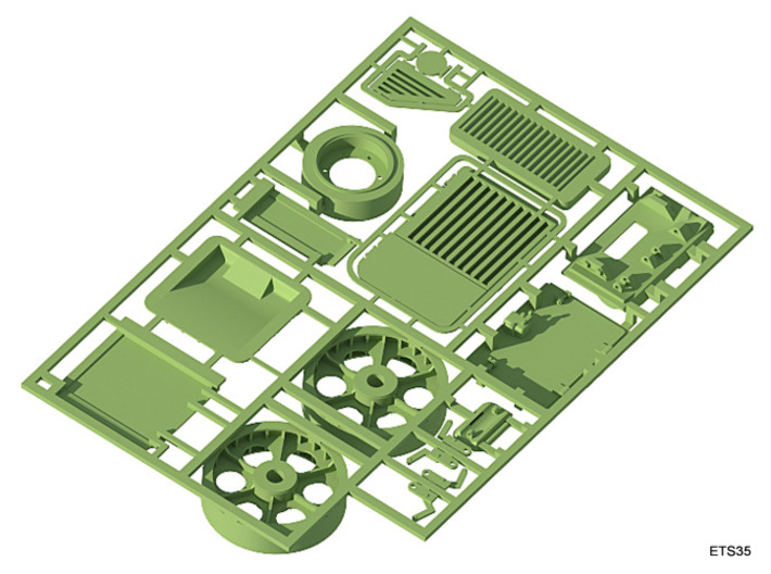 ETS35007 Renault R35 Set - 1:35 3d printed Hatches, armor and idlers (bottom view)