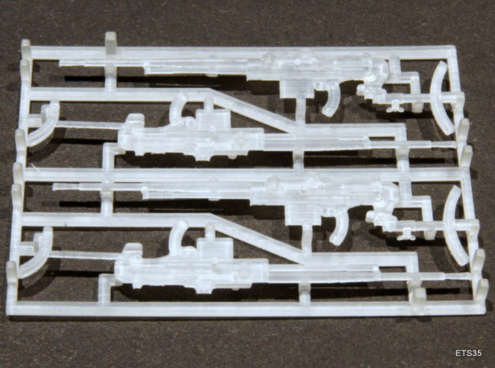 ETS35009 Reibel Machine Gun - 6 types, 2 of each 3d printed Machine guns with stock. As used by the infantry. The type with the short stock was used in combination with an US tripod